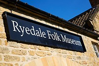 Ryedale Folk Museum Hutton le Hole North Yorks Moors England