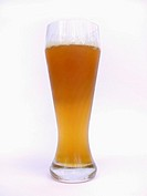 Glass of German wheat beer