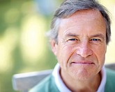 Closeup portrait of senior mature man _ Outdoor