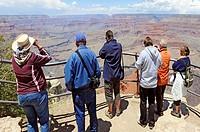 Visitors at South Rim Grand Canyon National Park Arizona