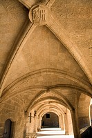 Cloister details, Palace of the Grand Masters, Rhodes, town, Rhodes, Greece