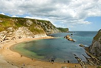 Image of Lulworth Cove near the village of West Lulworth, on the Jurassic Coast World Heritage Site in Dorset, southern England