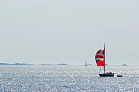 A sailing boat on the sea, Sweden.