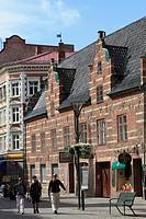 Sweden, Malmö, Malmo, street scene, traditional architecture,