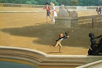 Close-up: Panoramic View of the Palace and Gardens of Versailles, 1818-19, by John Vanderlyn American neoclassicist painter, 1775-1852, Oil on canvas,...