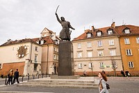 Monument of Jan Kilinski on Krasinski Square, Warsaw Poland