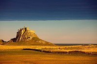 Lindisfarne, Northumberland, England, A Castle On The Tidal Island Also Known As Holy Island