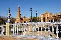Seville, Andalusia, Spain, Plaza De España