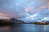 Caherciveen, County Kerry, Ireland, The Old Barracks Along The Water In The Evening