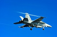 100808-N-0569K-036 ATLANTIC OCEAN Aug  8, 2010 An F/A-18F Super Hornet assigned to the Fighting Checkmates of Strike Fighter Squadron VFA 211 flies ov...