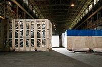 Containers in warehouse