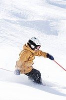 Young Boy skiing