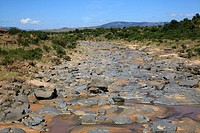 Dry river bed near isandlwana, south africa