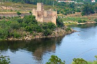 Almourol, Templar Castle and River Tejo, Ribatejo District , Near Tomar, Portugal Europe.