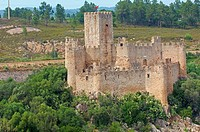 Almourol, Templar Castle, Ribatejo District , Near Tomar, Portugal Europe.