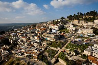 Aerial photograph of the city of Zefat in the Upper Galilee