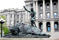 Closing Era Statue at State Capitol Building Denver Colorado