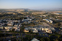 Aerial photograph of the modern city of Beit Shean
