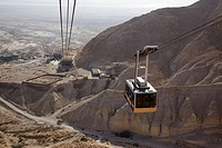 Photograph of the cable car of the archeologic site of Masada