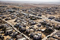 Aerial photograph of the Bedouin city of Rahat in the Northern Negev Desert