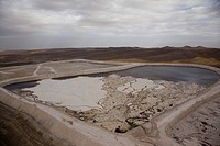 Aerial photograph of a toxic waste pool in the northern Negev