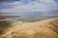 Aerial photograph of the southern basin of the Dead sea