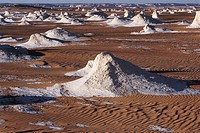 Photograph of the famos silicon rocks of Egypt´s western desert