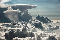 Massive clouds viewed from plane