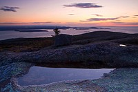 View from Cadillac Mountain at dusk