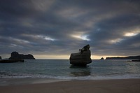 Storm clouds above Cathedral Cove