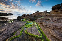 Rock formations in the Cote de Granit Rose