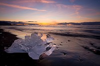 Chunk of ice on the shore of Jokussarlon