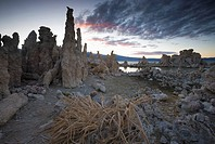 Travertine rock formations at Mono Lake