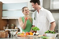 Couple couple preparing a healthy meal