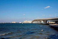 Bridge across a bay, John Ringling Causeway Bridge, Sarasota Bay, Sarasota, Sarasota County, Florida, USA