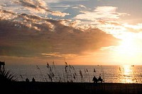 Sea at sunset, Venice Beach, Venice, Gulf Of Mexico, Sarasota County, Florida, USA