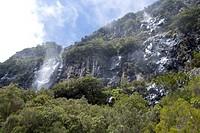 Waterfalls at Encumeada Pass, Encumeada Pass, Madeira, Portugal