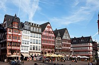 Half_timbered houses at Roemerberg, Frankfurt am Main, Hesse, Germany