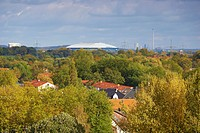 View at Veltins Arena at Gelsenkirchen, Ruhrgebiet, North Rhine_Westphalia, Germany, Europe