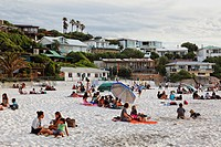 People on the beach, Clifton, Capetown, Western Cape, RSA, South Africa, Africa
