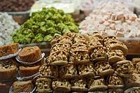 Turkish sweets, close_up, Egyptian Bazaar, Istanbul, Turkey