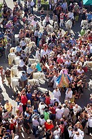 Sainte Sara Procession during annual gipsy pilgrimage at Les Saintes Maries de la Mer may,Camargue, Bouches du Rhone, France
