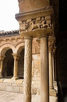 CLOISTER COLUMNS, CATHEDRAL OF SORIA, CASTILLA Y LEON, SPAIN