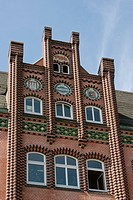 Old office building in Gothic Revival architecture, Flensburg, Germany