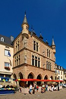 Market square with court house Denzelt in Echternach, Luxembourg