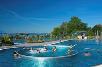 Open air pool, Meersburg, Baden_Wuerttemberg, Germany, Europe
