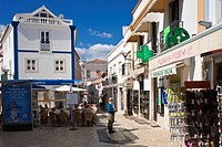 Pedestrian area in the old town, Lagos, Algarve, Portugal