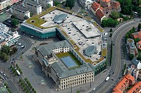 Shopping mall Schloss Arkaden, Braunschweig, Germany, aerial photo
