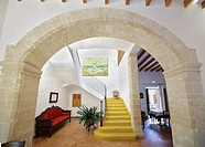 Inside old houses, Alcudia, Majorca, Spain