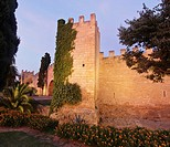 Walls of Alcudia at dusk, Majorca, Spain